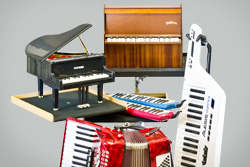 akkordeon toy piano keytar mieten